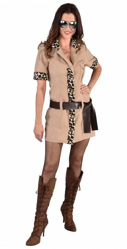 Jäger Damen Kostüm Urwald Jungle Safari Lady Girl Dschungel Kleid zVMpGqLSU