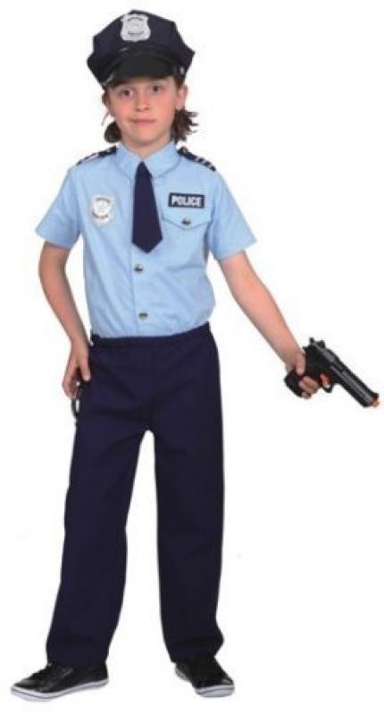 Indexbild 2 - Polizist Polizei Police Cop FBI CIA Kostüm Uniform Anzug Mütze Kinder