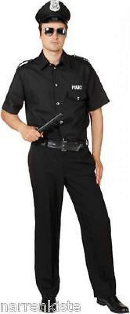 polizist polizei kost m uniform anzug weste herren polizeikost m fbi swat police ebay. Black Bedroom Furniture Sets. Home Design Ideas