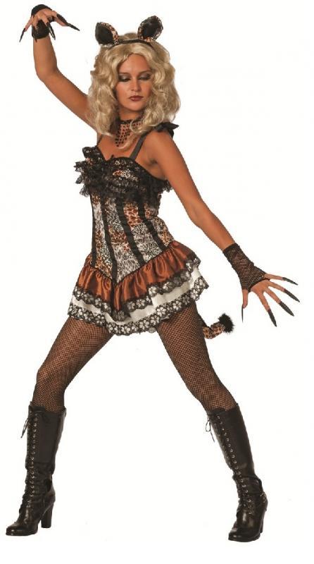 katzen kost m kleid mietze katze leopard tiger b r hase maus zebra panter l we. Black Bedroom Furniture Sets. Home Design Ideas