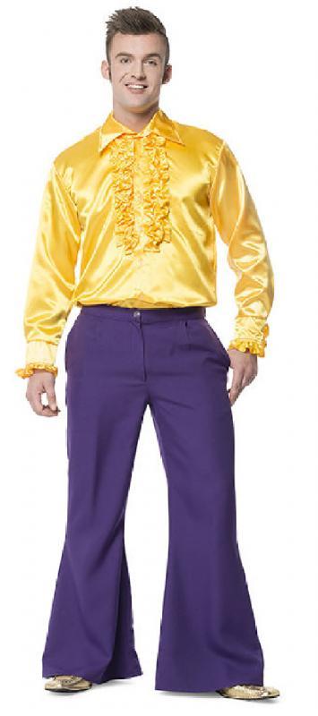 Golpe pantalones disfraz traje hippie hippy fiesta discoteca discoteca pantalones fiesta pantalones caballeros