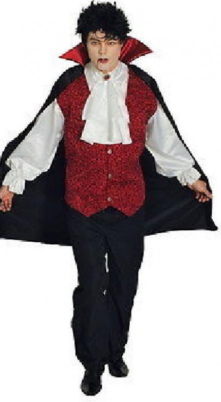 teufel kost m graf dracula vampir herren halloween vampirkost m karneval umhang ebay. Black Bedroom Furniture Sets. Home Design Ideas