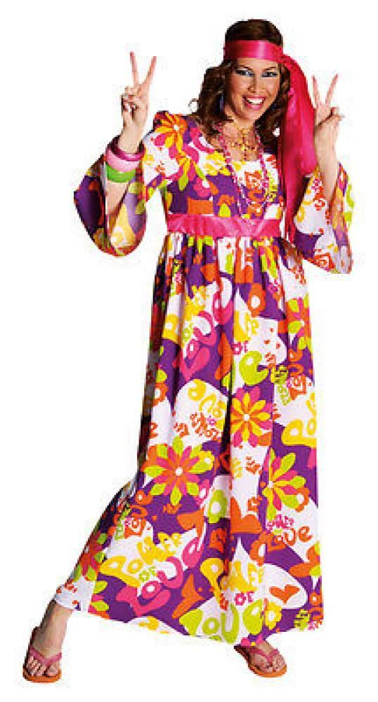 70er 80er jahre kleid kost m flowerpower damen hippie hippy hippiekost m party ebay. Black Bedroom Furniture Sets. Home Design Ideas