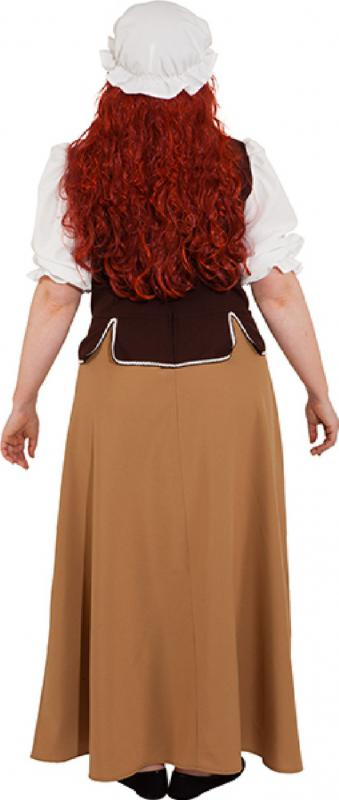 Commerce femme servante Costume Robe Femmes Moyen Âge Baroque Damoiselle Château Bauer
