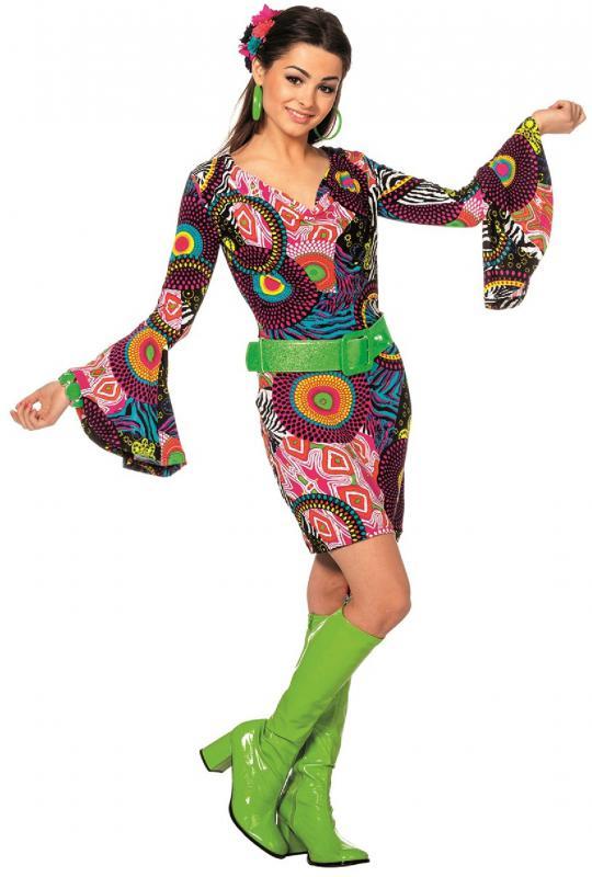 70er 80er jahre kleid kost m flowerpower sexy hippie hippy party disco catsuit l3201710 42 damen. Black Bedroom Furniture Sets. Home Design Ideas