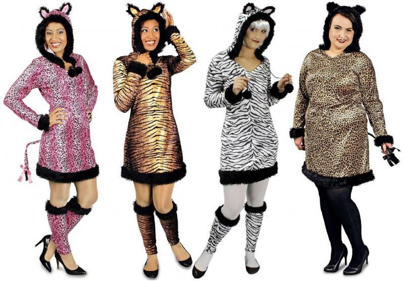 zebra zebrakleid zebrakost m kost m kleid katze tiger l we maus biene k fer k31472308 damen. Black Bedroom Furniture Sets. Home Design Ideas