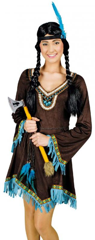indianer indianerin kost m damen kleid squaw sioux apache. Black Bedroom Furniture Sets. Home Design Ideas