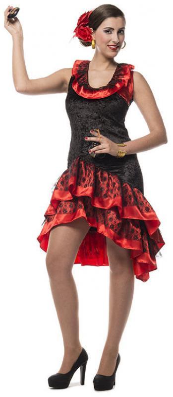 Flamenco kleid damen rot
