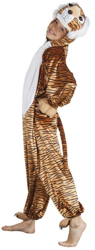 Tigerkostum Lowe Lowen Lion Kostum Overall Plusch Tier Tiger Leopard