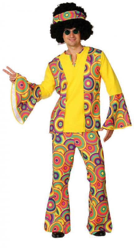 70er 80er Jahre Kleid Kostum Flowerpower Herren Hippie Motto Party