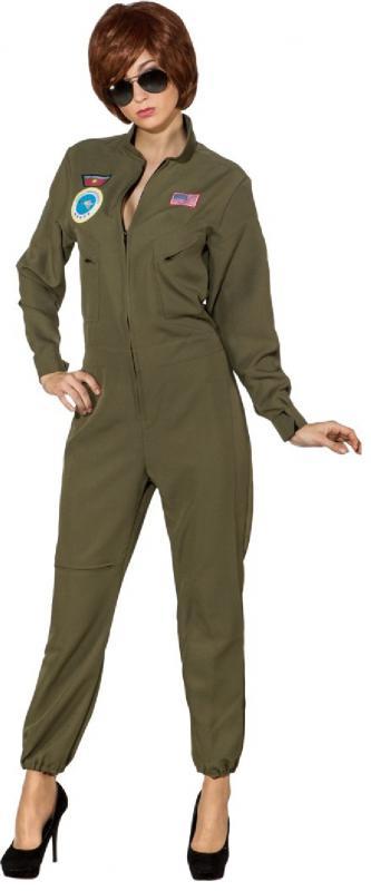 Jet Pilot Pilotenkostüm Pilotin Armee Piloten Kostüm Uniform Kleid