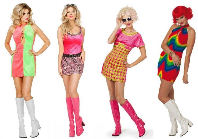 hippiekost m 70er 80er jahre kleid kost m flowerpower damen hippie party disco w4599 pink gold. Black Bedroom Furniture Sets. Home Design Ideas