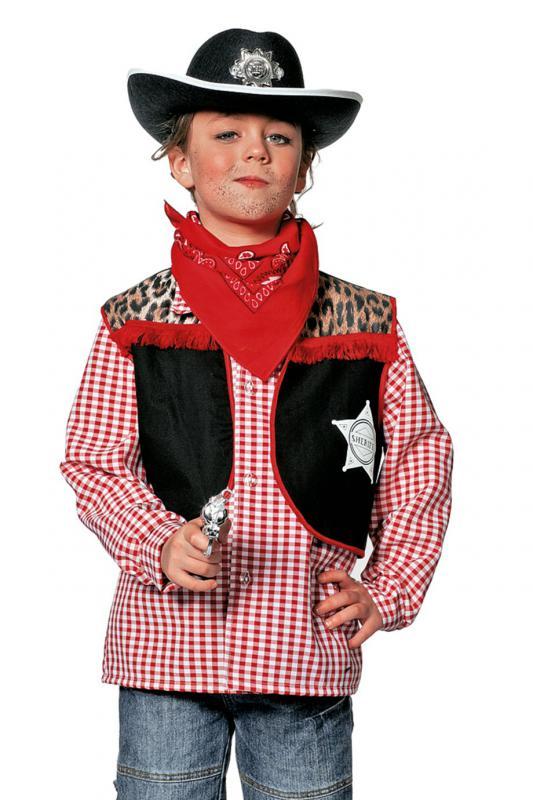 Cowboykostum Cowboy Weste Cowboyweste Kostum Wilder Westen Karneval