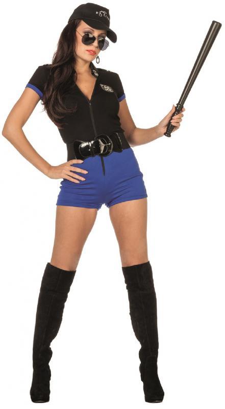 polizist sexy polizistin polizei catsuit kost m kleid uniform damen fbi swat hut ebay. Black Bedroom Furniture Sets. Home Design Ideas