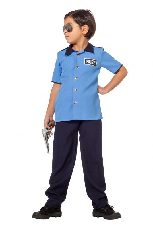 Indexbild 4 - Polizist Polizei Police Cop FBI CIA Kostüm Uniform Anzug Mütze Hut Junge Kinder