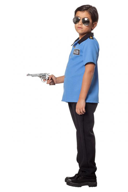 Indexbild 3 - Polizist Polizei Police Cop FBI CIA Kostüm Uniform Anzug Mütze Hut Junge Kinder