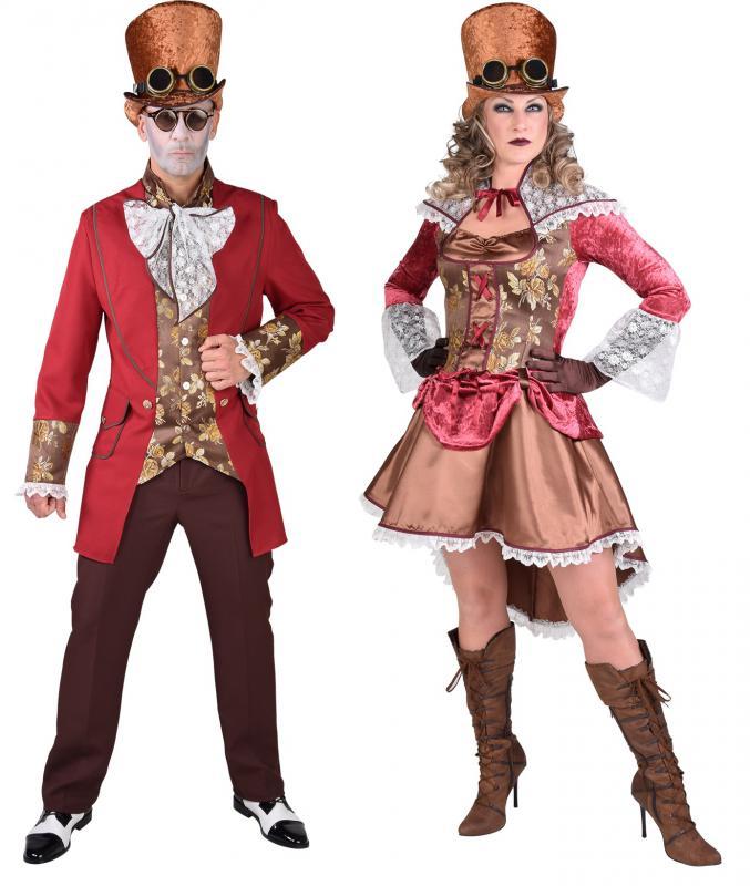 8a3939bfb03696 Burlesque Barock Rokoko Steampunk Halloween Damen Herren Kostüm Kleid  Brille Hut