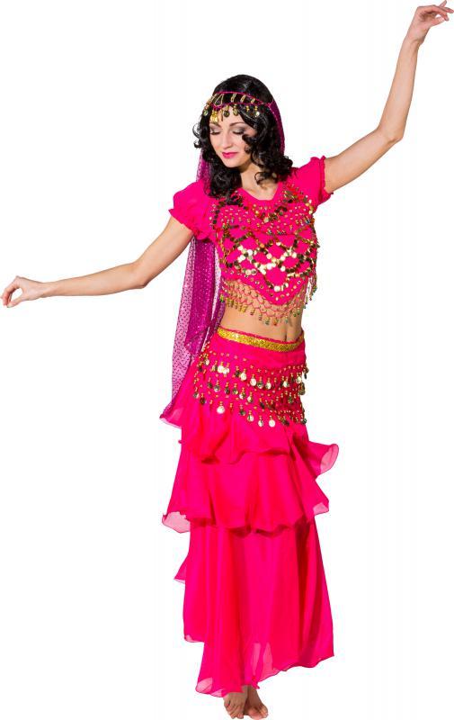 Haremsdame 1001 Nacht Kleid Kostüm Damen Bollywood Orient Prinzessin ...