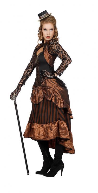 5b360d7d694229 ... W4004-34 braun-schwarz Damen Rokoko Steampunk Burlesque Kleid Gr.34 - 1  ...
