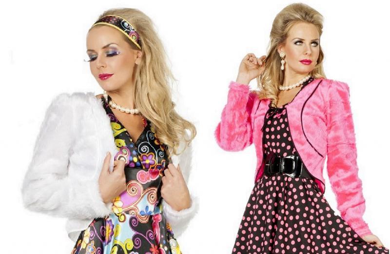 958a241e364769 50er Jahre Kostüm Rock n Roll Damen Disco Rockabilly Plüsch Bolero Fell  Jacke