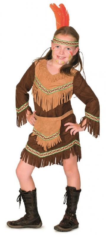 Indianer In Apache Damen Kinder Madchen Indianerkostum Kostum Kleid