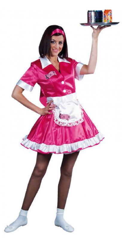 Super Specials gutes Angebot 60% Freigabe Kellnerin Damen Kostüm Kleid 50er 60er Jahre Kleid ...