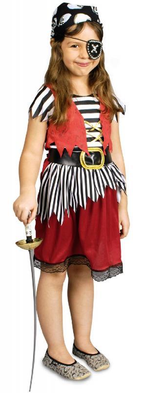 5a83f79a9290b Piratin Pirat Kostüm Kleid Seeräuber Kinder Mädchen Piraten ...
