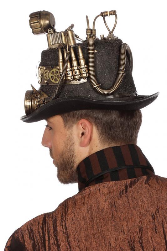 Steampunk CILINDRO Rokoko CAPPELLO PIRATA Minihut Medioevo Pirata Costume Abito