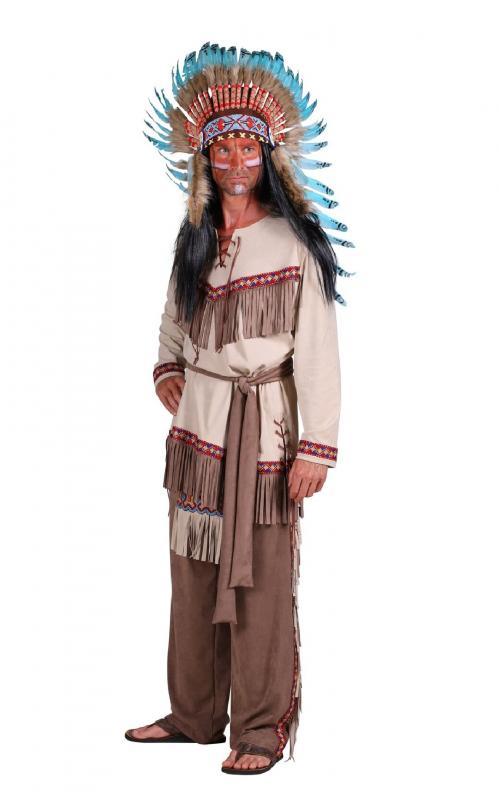 Indexbild 6 - Indianer Apache Siox Indianerkleid Indianerkostüm Kostüm Häuptling Kleid Anzug