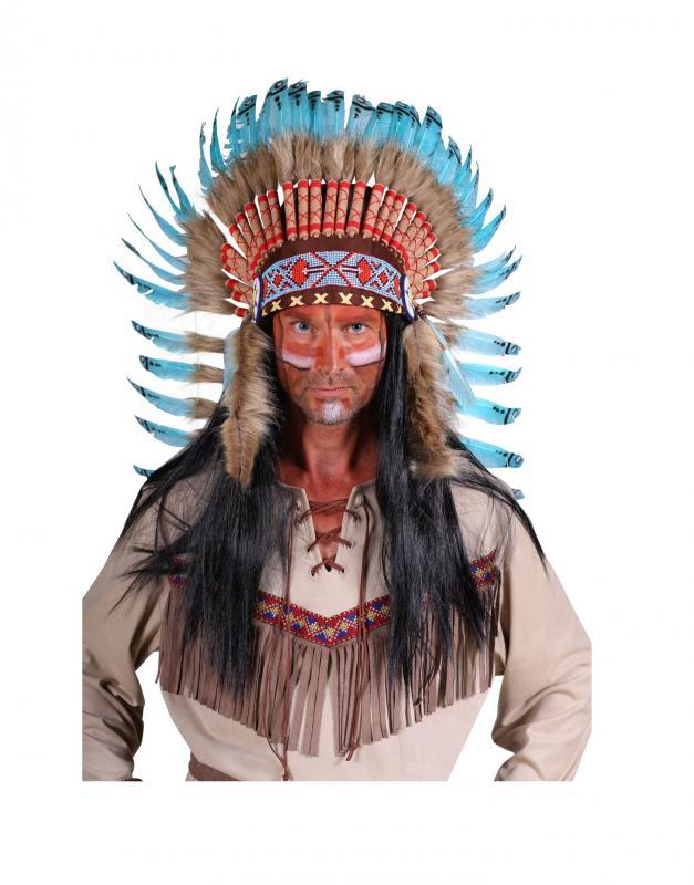 Indexbild 5 - Indianer Apache Siox Indianerkleid Indianerkostüm Kostüm Häuptling Kleid Anzug