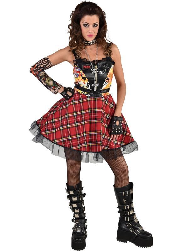 Punk Girl Punkgirl Punker Rocker Punkgirlkostum Punkerin Rockerin Kleid Kostum Ebay