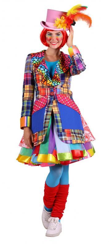 Clown Pierrot Frack Harlekin Kostüm Jacke Weste Mantel Kasper Clownkostüm Kleid