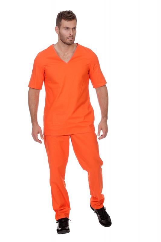 Indexbild 4 - Sträfling Kostüm Anzug Overall Sträflingskostüm Häftling Gefangener Knacki