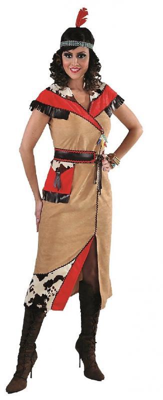 Sexy Indianer Kleid Kostum Squaw Apache Sioux Indianerin Cow Girl