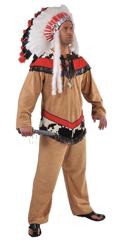 Attaque complète du du du Nouvel An de Noël, vente d'achat groupée Indien Costume DéguiseHommes t Apache Sioux Indien Costume Guerrier Chef ressort 918729