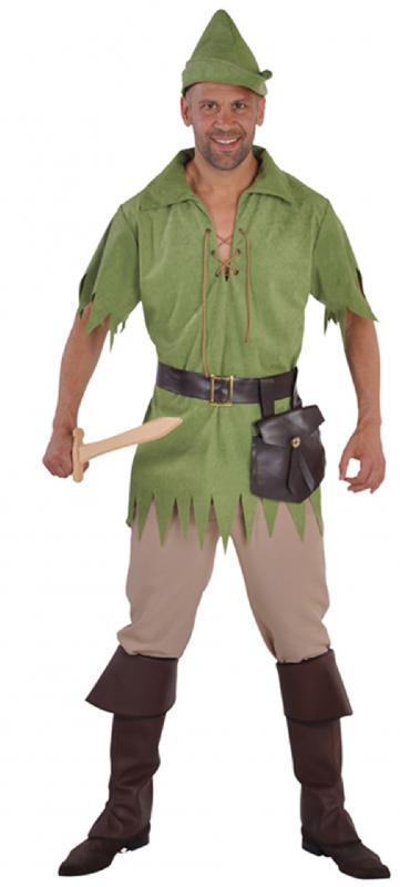 Robin Hood Peter Pan Jäger Kostüm Gothic Herren Damen Kinder Junge