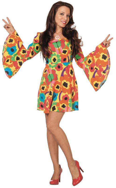 70er 80er jahre kleid kost m flowerpower damen hippie hippy hippiekost m party l3201152 36 gro e. Black Bedroom Furniture Sets. Home Design Ideas