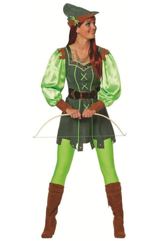 Robin Hood Jager Girl Kostum Kleid Rauberin Held Lady Jagerin Diebin