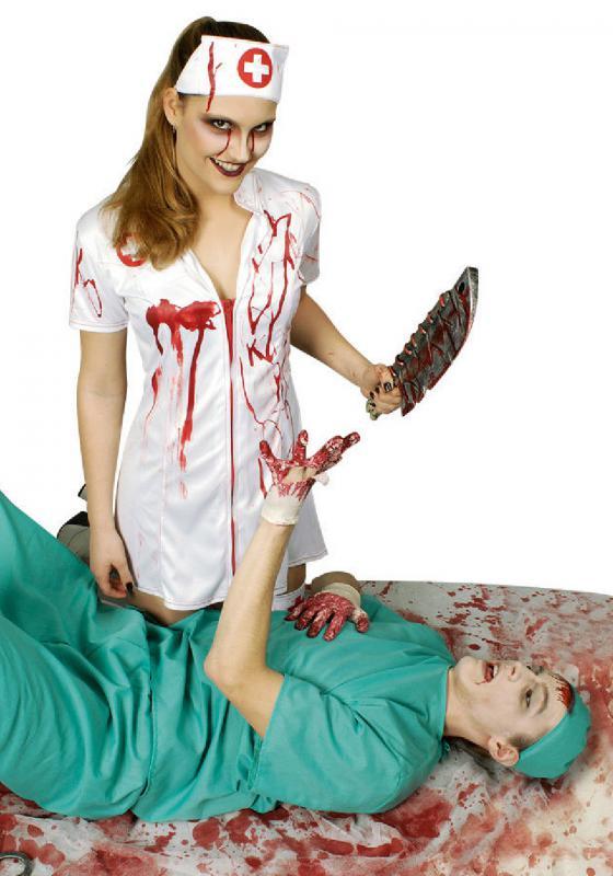 Blutige Krankenschwester Kostüm Kleid Outfit Nurse Kittel Zombie ...