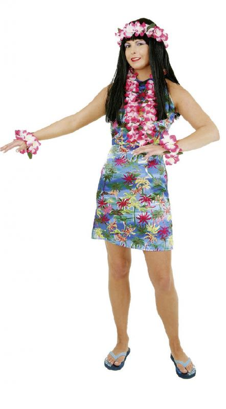 Hawaii Kleid Kostüm Damen Hemd Party Rock Kette Sexy Shorts Hut ...