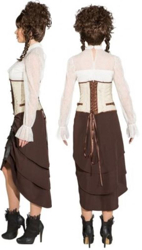Steampunk Viktorianisch Barock Rokoko Kostüm Kleid Rock Bluse Perücke Gothic Hut