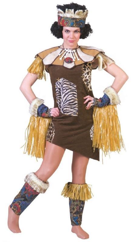 Afrikanerin Afrikaner Afrika Kostüm Kleid Zulu Krieger Dschungel ...