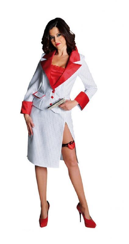 Gangster Braut Kleid Kostum Mafia 20er Jahre Al Capone Damen