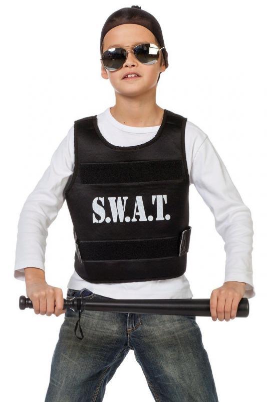 Indexbild 2 - Polizist Polizei SWAT Weste Police FBI CIA Kostüm Uniform Polizeikostüm Cop Helm