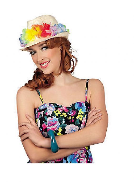 Hawaii Blumen Hut Kleid Kostüm Party Rock Kette Hippie Shorts Tasche ...