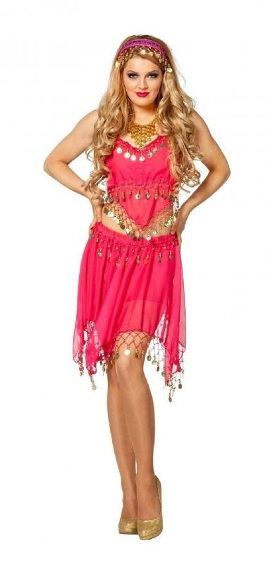 bauchtanz belly dance 1001 nacht kleid kost m bollywood orient prinzessin sari w4468e l xl pink. Black Bedroom Furniture Sets. Home Design Ideas