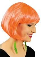K11276924 neon-orange Damen Perücke Bob Disco