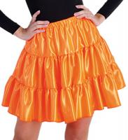 M212001-27 orange Kinder Satin Rock-Petticoat-Unterrock