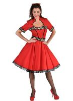 M220111 rot-sheeba Damen Boogie Woogie Rock 'n Roll Tanzkleid