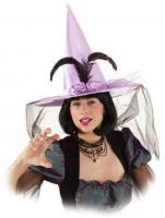 O23586 flieder Damen Hexen Hut Halloweenhut